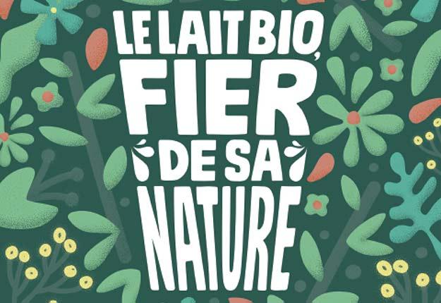Imprimé sur du papier biodégradable, l'encart publicitaire du lait bio peut être mis en terre pour faire pousser du basilic. Photo : Producteurs de lait du Québec