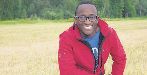 Edem Amegbo, propriétaire  d'Au jardin d'Edem, à Farnham, se spécialise dans des variétés de légumes originaires d'Afrique. Photo :  Gracieuseté