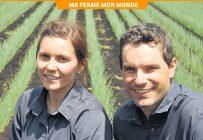 Madeleine et Jean-Marie Zumstein sont propriétaires de l'entreprise maraîchère La Production Barry, qui engage une trentaine de travailleurs temporaires étrangers chaque année. Photo : Marc-Alain Soucy