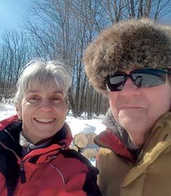 Myriam Brel et son conjoint, Patrick Savard.