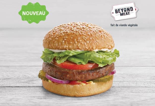 La première publicité du Beyond Burger portait la mention « viande végétale ». Cette allégation doit maintenant être retirée. Photo : A&W