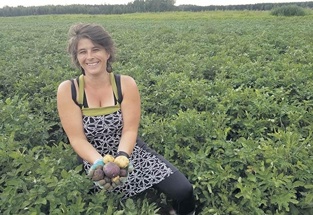 Patricia Claveau et Guy Fradette connaissent du succès en vendant 35 variétés de pommes de terre uniquement dans les marchés publics et à leur ferme de Yamachiche, en Mauricie