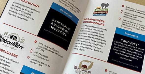Voici le passeport «foodie» de la campagne La Montérégie, le garde-manger du Québec. Photo : Josianne Desjardins/TCN