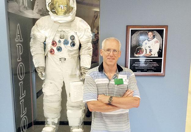 David Brault, vice-président de l'ingénierie pour l'entrepriseInno-3B, lors de son passage à la NASA. Photo : Gracieuseté d'Inno-3B