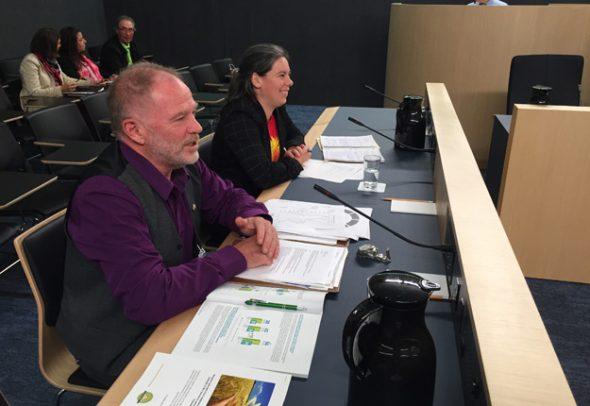 Maxime Laplante, président et Marie-Josée Renaud, coordonnatrice de l'Union paysanne ont pris la parole en cette quatrième journée d'auditions.