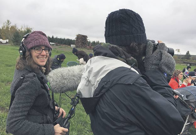 Sarah-Christine Bourihane signe son premier documentaire, Le rang pas drette. Photo: Stéphanie Chalut