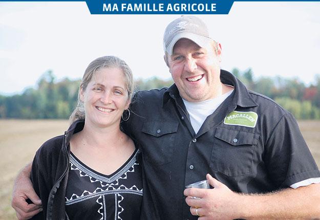Erica MacCallum et Ryan Allen poursuivent la tradition agricole familiale dans leur ferme située à Rawdon. Photos: Gracieuseté de Félix-Antoine St-Jean