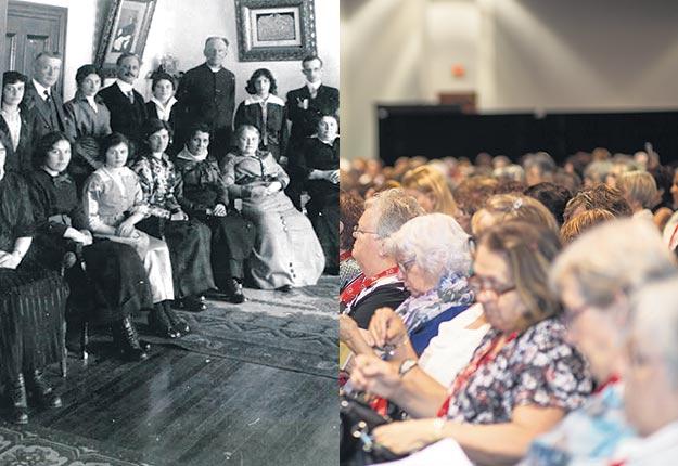 Le plus récent congrès annuel des Fermières a eu lieu à Chicoutimi, là où le premier cercle a été fondé en 1915. Photos : Cercle de Fermières de Roberval et Gracieuseté de Caroline Pelletier