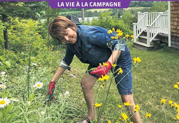 La journaliste Rachel Brillant trouve son bonheur à sa maison de campagne située derrière le rang où elle est née, à Saint-Fabien, près de Rimouski. Photo : Gracieuseté de Rachel Brillant