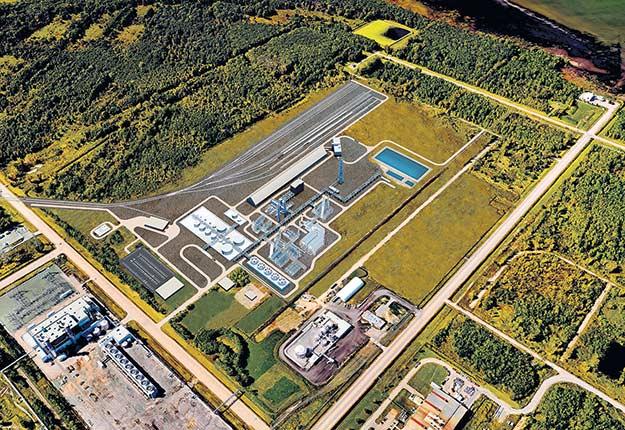 Après avoir passé sept ans dans les cartons, le projet d'usine d'urée de la Coop à Bécancour est définitivement abandonné. Photo : ProjetBécancour.ag