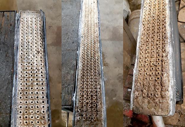 Des radiateurs un peu trop bouchés pour bien fonctionner. Photo : VLR Radiateurs