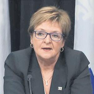 La vérificatrice générale, Guylaine Leclerc.