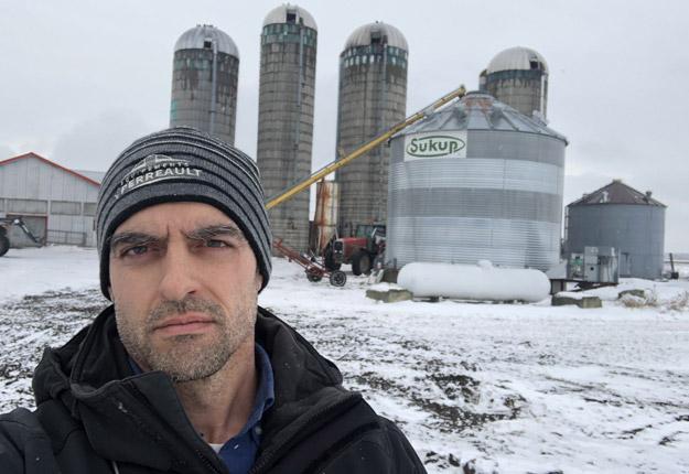 Le réservoir de propane est à sec chez l'agriculteur Pascal Leduc et il le restera jusqu'à nouvel ordre en raison de la grève des employés du CN. Crédit photo : Pascal Leduc