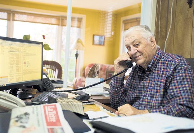 À 80ans, Jean-Eudes Senneville est toujours un homme d'affaires coriace. Photo : Martin Ménard/TCN