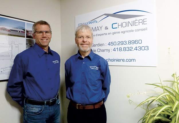 Les dirigeants de Consultants Lemay & Choinière, Christian Lemay et Yves Choinière. Photo : Gracieuseté
