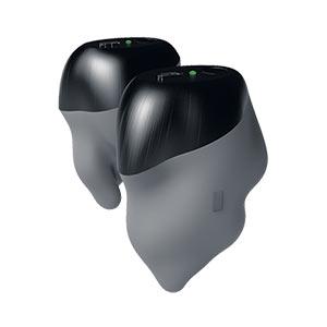 En plus d'épouser les parois  du canal auditif du cheval,  les bouchons eQuiet renferment  des microphones interne et externe pour une atténuation du bruit supérieure aux bouchons actuellement offerts sur le marché.