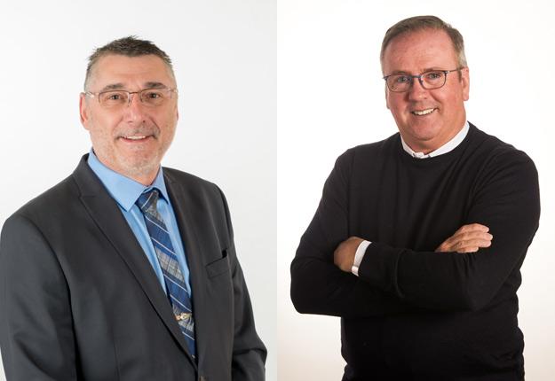 M. Sylvain Lefebvre et M. Claude Grégoire. Photo : Association des médecins vétérinaires praticiens du Québec