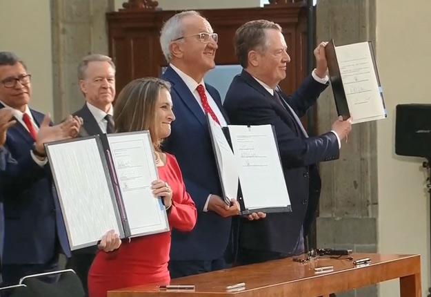 La vice-première ministre Chrystia Freeland s'était envolée pour le Mexique le 9 décembre, éveillant ainsi les soupçons d'entente imminente sur de nouvelles révisions de l'Accord. Crédit : Capture d'écran de CPAC