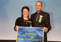 Simon Michaud et Mylène Bourque remportent le titre de Jeunes agriculteurs d'élite du Canada. Crédit photo : Gracieuseté de Jeunes agriculteurs d'élite, section Québec
