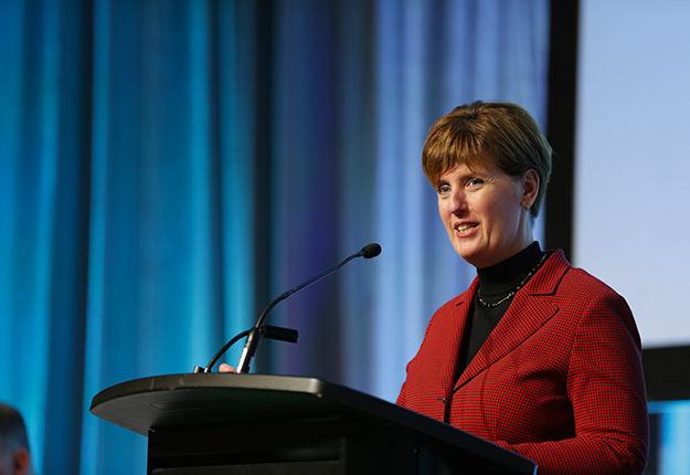 La ministre fédérale de l'Agriculture, Marie-Claude Bibeau. Crédit photo : Pascal Ratthé