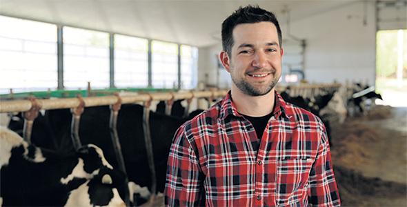 Rémy, 30ans, Sainte-Agathe-de-Lotbinière Chaudière-Appalaches , Producteur laitier