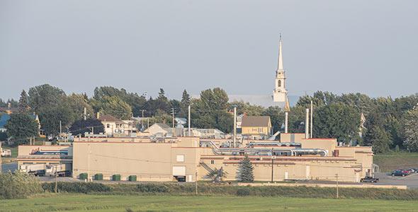Les installations d'Aliments Asta se situent à Saint-Alexandre-de-Kamouraska.