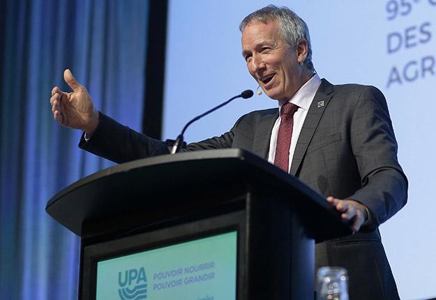 Le ministre de l'Agriculture, André Lamontagne. Photo : Pascal Ratthé