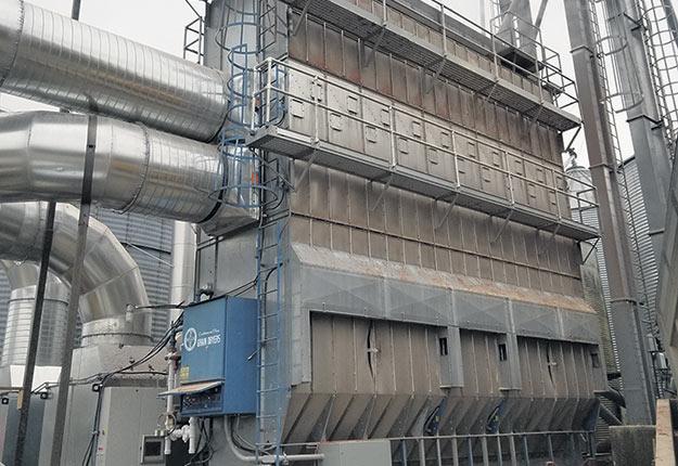 Le séchage du grain à la biomasse assure une sécurité énergétique, une réduction des coûts et une meilleure empreinte carbone que le propane», fait valoir Mathieu Béland. Photo : Gracieuseté de Mabre Canada
