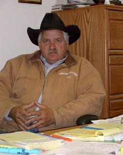 Le coloré président de R-CALF USA, Leo McDonnell. Photo : Julie Mercier/TCN