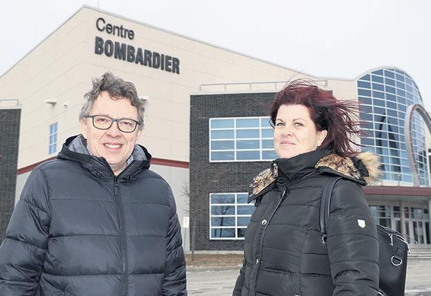 Les promoteurs, Jean D'Amour et Véronique Michaud. Photo : Maurice Gagnon
