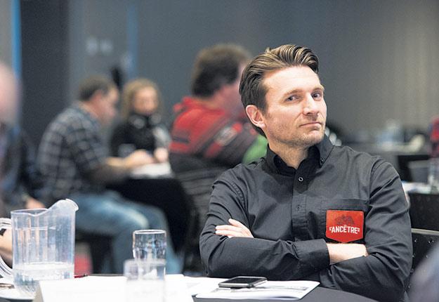 Le directeur de la Fromagerie L'Ancêtre, Pascal Désilets, assure qu'il faut investir en promotion et amener le bio à un autre niveau. Photo : Martin Ménard/TCN