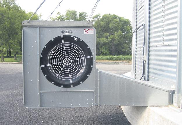 Ventilateur centrifuge utilisé pour la ventilation des silos. Photo : Nicolas St-Pierre