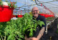 André Carbonneau cultivera des légumes dans deux de ses serres en juillet, une fois la saison horticole terminée. Photo : Gracieuseté d'André Carbonneau