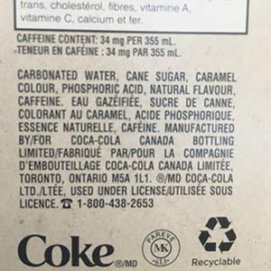 Il n'y a pas de sirop d'érable dans la liste des ingrédients significatifs du Coca-Cola Érable du Québec.