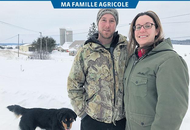 Andréanne et Sébastien Gauthier sont la relève du père de ce dernier, Jocelyn, au Témiscamingue. Photos : Émélie Rivard-Boudreau