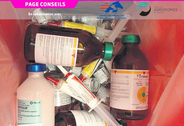 Les doses types permettent de comparer les antibiotiques administrés à un animal. Photo : Gracieuseté d'Hélène Lardé