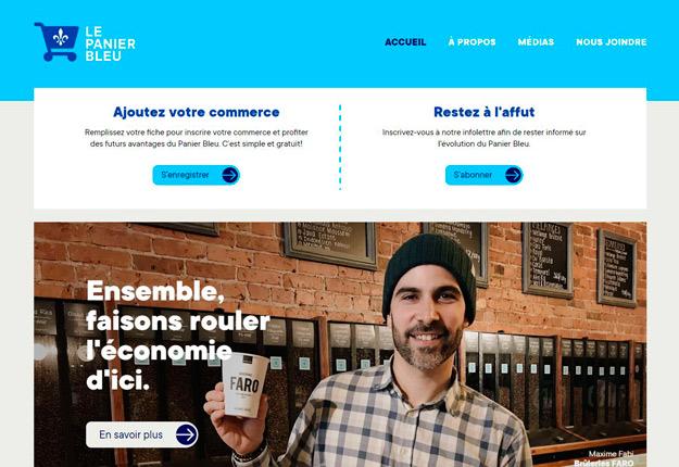 La plateforme Panier Bleu est gratuite, tant pour les commerçants que pour les consommateurs. Crédit : Le Panier Bleu