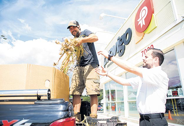 Le nouveau projet du Conseil canadien du commerce de détail vise à créer de nouveaux partenariats entre producteurs locaux et les grandes chaînes d'alimentation telles que Provigo/Maxi. Photo : Martin Ménard/Archives TCN