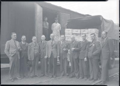 Expédition de volailles par la Coopérative fédérée de Québec / Neuville Bazin – 1944