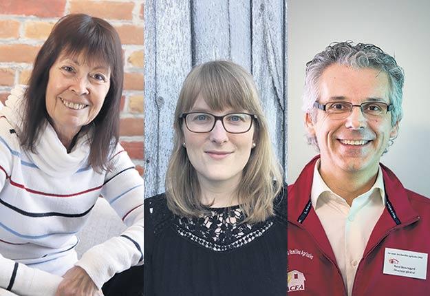 Diane Carle, Magali Noiseux-Laurin et René Beauregard.