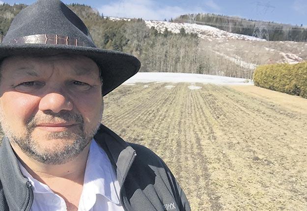 Rudy Laixhay s'attend à perdre ce champ de blé semé à l'automne en raison, notamment du gel et du mercure descendu à -10 ºC, le 22 avril. Photo : Gracieuseté de Rudy Laixhay