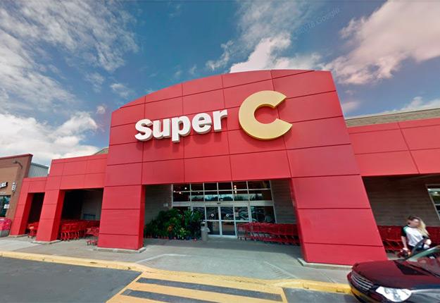 Les supermarchés Super C rendront accessible, dès le 17 avril, une plateforme d'épicerie en ligne qui s'adressera spécifiquement aux travailleurs étrangers temporaires en milieu agricole. Crédit photo : Googlemap