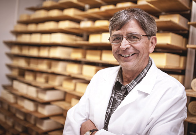 Alain Dubois, président-directeur général de la Fromagerie Rang 9 à Plessisville. Crédit : Gracieuseté d'Alain Dubois