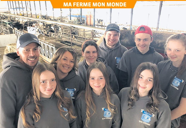Éric Lessard et sa famille ont misé sur l'originalité pour attirer leur future employée. Photo : gracieuseté de la Ferme Éric Lessard