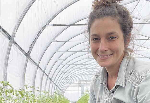 Mélanie Villemaire savoure la vie dans sa ferme en démarrage en Mauricie.