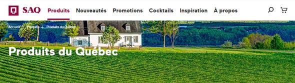 La SAQ met de l'avant les alcools d'ici depuis quelques semaines sur son site Web. Photo : capture d'écran de la SAQ