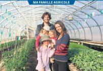 Timothé Croteau et Virginie Doucet ont lancé leur ferme maraîchère à Inverness, au Centre-du-Québec, où ils sont devenus fermiers de famille avec leurs trois filles. Photos: Gracieuseté des Jardins d'Inverness
