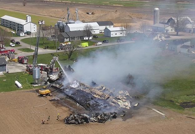 Le Service de sécurité incendie de Bromont dispose d'un drone qui capte des images aériennes, lui permettant d'avoir une meilleure vue d'ensemble pour maîtriser les feux. Crédit photos : Gracieuseté de Service des incendies de Bromont