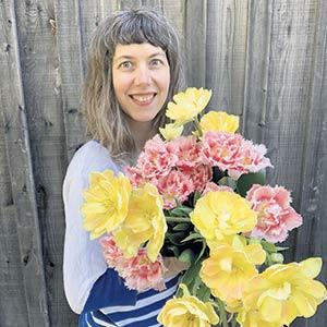 Catherine Audet, propriétaire d'Écru Fleurs. Photo : Gracieuseté de Catherine Audet