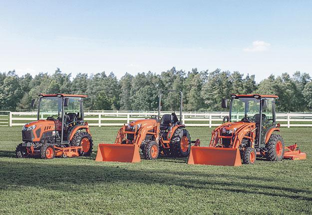 Les tracteurs compacts de la sérieLX de Kubota sont alimentés par des moteurs diesel et offrent une puissance variant entre 24,9 et 30,8ch. Photo : Gracieuseté